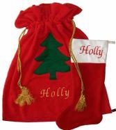 Personalised Christmas Sacks - Traditional